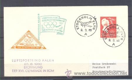 1960.-SUECIA A ALEMANIA (Sellos - Temáticas - Deportes)