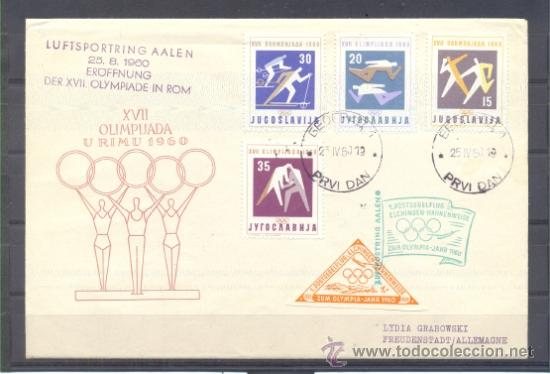 1960.- YUGOSLAVIA A ALEMANIA (Sellos - Temáticas - Deportes)