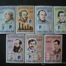 Sellos: GUINEA BISSAU 1988 461/7 *** EXPOSICIÓN FILATÉLICA MUNDIAL - CAMPEONES MUNDO DE AJEDREZ. Lote 36359758