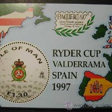 Sellos: MAN 1997 - GOLF RYDER CUP SPAIN'97 - YVERT BLOCK Nº 32. Lote 39705277