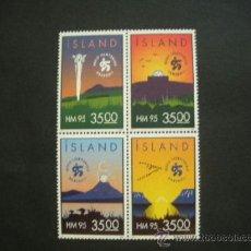 Sellos: ISLANDIA 1995 IVERT 773/6 *** CAMPEONATO DEL MUNDO DE BALONMANO - DEPORTES. Lote 37203897