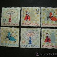 Sellos: RUMANIA 1966 IVERT 2193/8 *** 17º TORNEO INTERNACIONAL DE AJEDREZ EN LA HABANA - DEPORTES. Lote 37268281