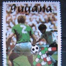 Sellos: GUYANA 1989 SELLO - TEMATICA FUTBOL - FOOTBAL - SOCCER DIEGO MARADONA - SELECCION ARGENTINA. Lote 37383582