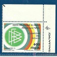 Sellos: ITALIA- COPA MUNDIAL DE FUTBOL -90, VER DESCRIPCIÓN Y FOTOS CATALOGO 2003. Lote 46077962