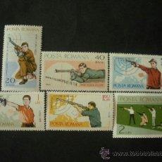 Sellos: RUMANIA 1965 IVERT 2126/31 *** CAMPEONATO DE EUROPA DE TIRO EN BUCAREST - DEPORTES. Lote 37831982