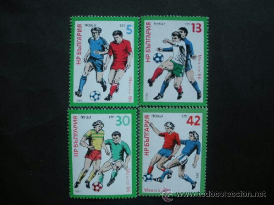 BULGARIA 1985 IVERT 2942/5 *** COPA DEL MUNDO FUTBOL - MEXICO-86 - DEPORTES (Sellos - Temáticas - Deportes)