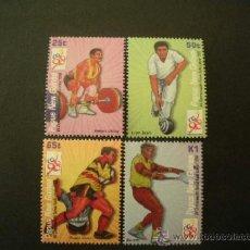 Sellos: PAPUA Y NUEVA GUINEA 1998 IVERT 809/12 *** JUEGOS DEPORTIVOS DE LA COMMONWEALTH - SPORTES. Lote 38446814