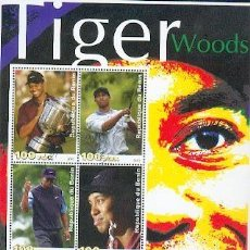Sellos: BENIN & CLASSICOS DO GOLF TIGER WOODS 2003 (44). Lote 38917430