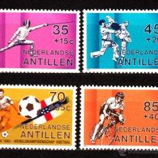 Francobolli: ANTILLAS HOLANDESAS 650/53** - AÑO 1982 - ESGRIMA - KARATE - FÚTBOL - CICLISMO. Lote 39929391