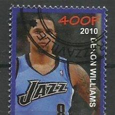 Sellos: CONGO 2010 SELLO DEL JUGADOR DE BALONCESTO DERON WILLIAMS - BASKETBALL- NBA. Lote 42492689