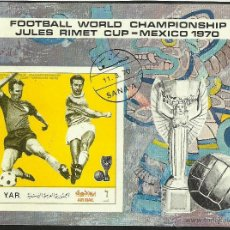 Sellos: YEMEN 1979 HOJA BLOQUE TEMATICA DEPORTES- FUTBOL- COPA MUNDIAL JULES RIMET- MEXICO 70- FIFA. Lote 44426682