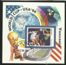 Sellos: TANZANIA 1994 HB DEPORTES- COPA MUNDIAL DE FUTBOL EEUU 94- FIFA . Lote 44710241