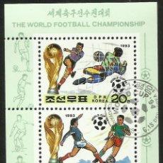 Sellos: COREA 1993 HB DEPORTES- COPA MUNDIAL DE FUTBOL EEUU 94- FIFA . Lote 44710283