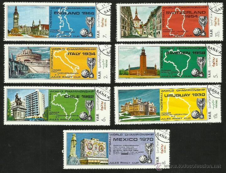 YEMEN 1970 SELLOS COPA MUNDIAL FUTBOL JULES RIMET MEXICO 70- PAISES ORGANIZADORES HASTA 1970 - FIFA (Sellos - Temáticas - Deportes)