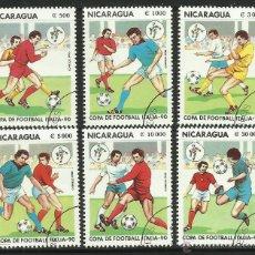 Sellos: NICARAGUA 1990 SELLOS COPA MUNDIAL FUTBOL ITALIA 90- FIFA. Lote 44783774