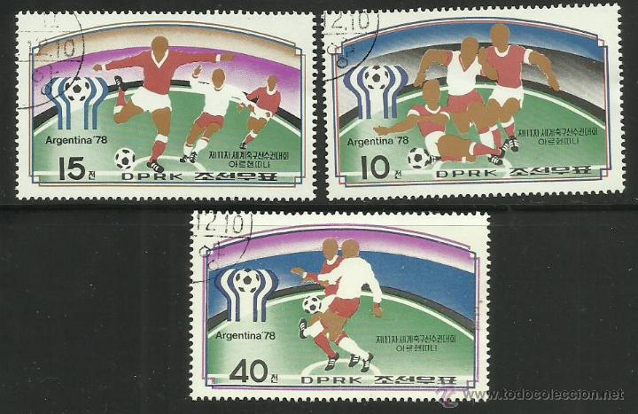 COREA 1978 SELLOS COPA MUNDIAL FUTBOL ARGENTINA 78 - FIFA (Sellos - Temáticas - Deportes)