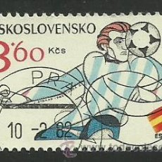 Sellos: CHECOSLOVAQUIA 1982 LOTE DE SELLOS COPA MUNDIAL DE FUTBOL ESPAÑA 82- FIFA. Lote 44806942