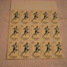 Sellos: 15 SELLOS NUEVOS JUEGOS ATLETICOS IBEROAMERICANOS 1962 80 CTS. Lote 45585171