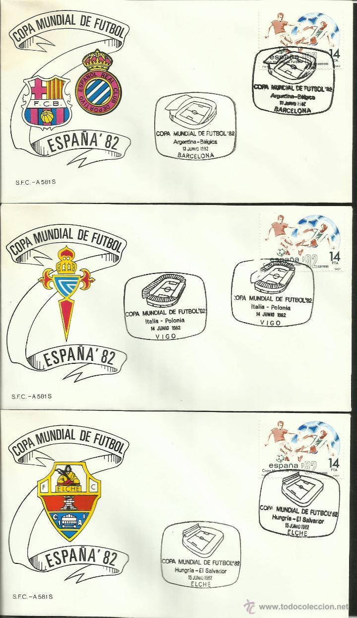 Sellos: COLECCIÓN COMPLETA 52 SOBRES PRIMER DIA CIRCULACION DEL MUNDIAL DE FUTBOL ESPAÑA 82- FDC- FIFA - Foto 2 - 47188899