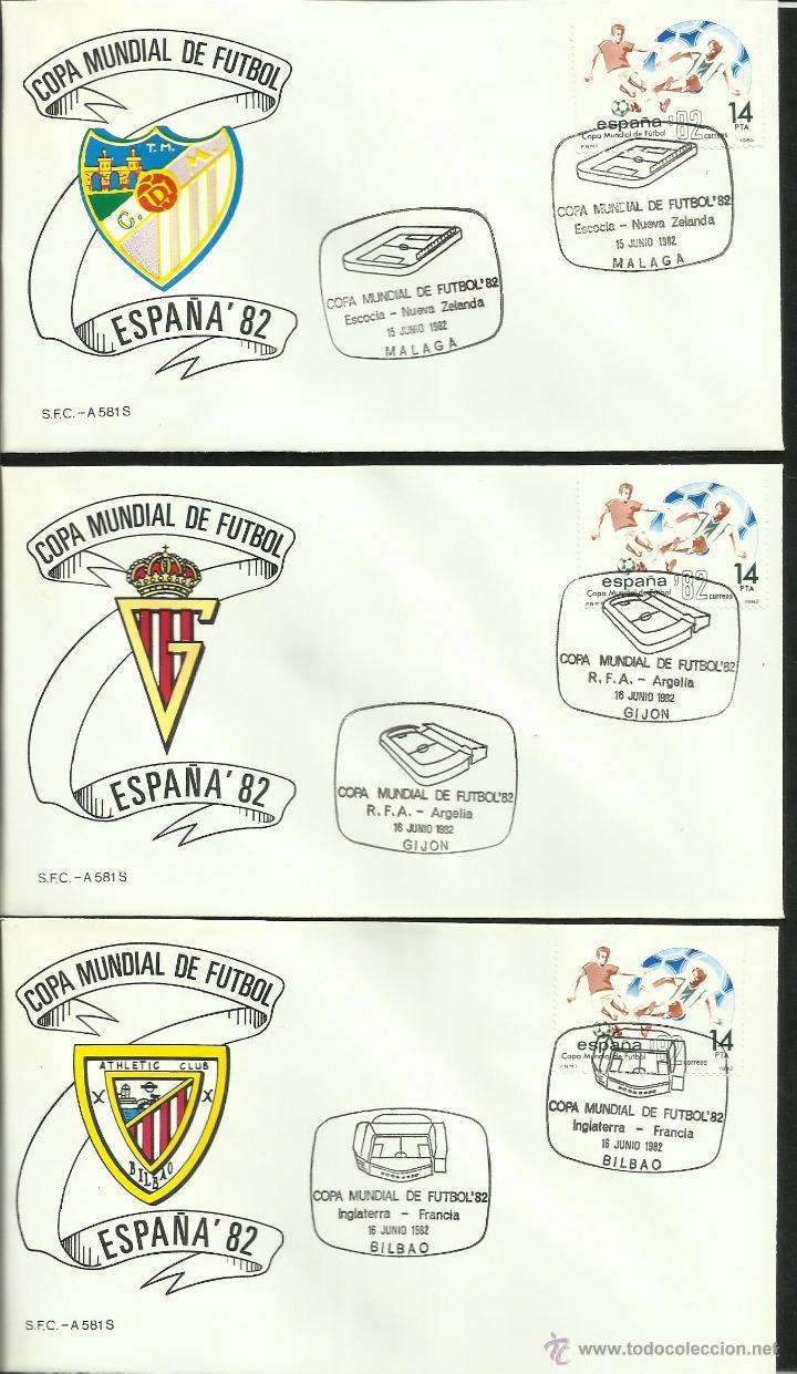 Sellos: COLECCIÓN COMPLETA 52 SOBRES PRIMER DIA CIRCULACION DEL MUNDIAL DE FUTBOL ESPAÑA 82- FDC- FIFA - Foto 3 - 47188899