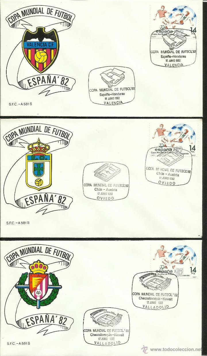 Sellos: COLECCIÓN COMPLETA 52 SOBRES PRIMER DIA CIRCULACION DEL MUNDIAL DE FUTBOL ESPAÑA 82- FDC- FIFA - Foto 4 - 47188899