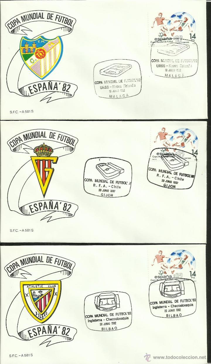 Sellos: COLECCIÓN COMPLETA 52 SOBRES PRIMER DIA CIRCULACION DEL MUNDIAL DE FUTBOL ESPAÑA 82- FDC- FIFA - Foto 7 - 47188899