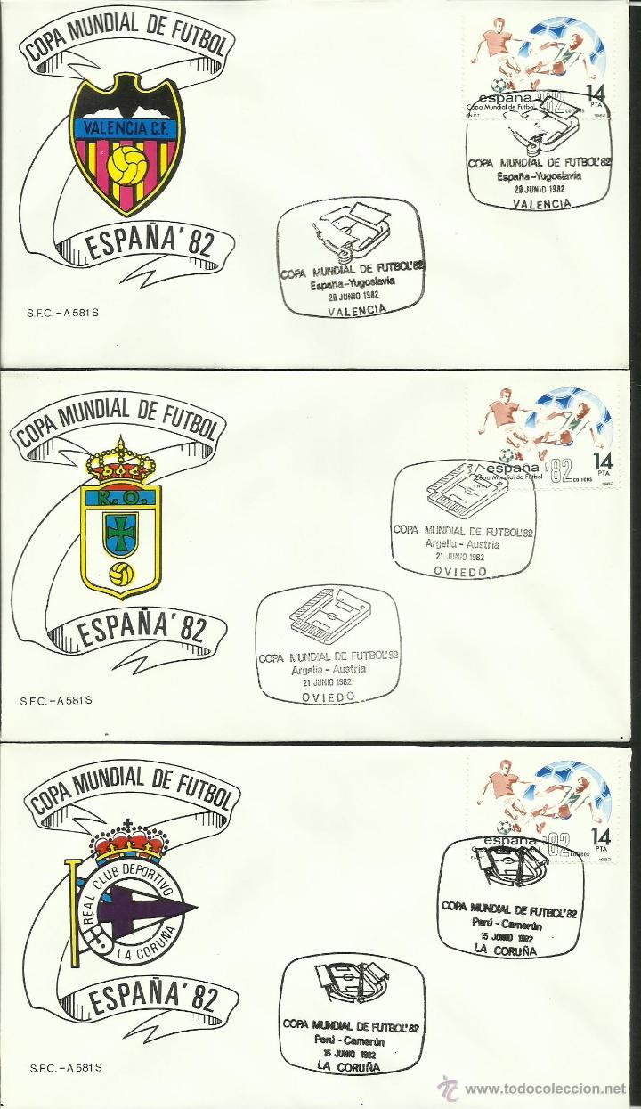 Sellos: COLECCIÓN COMPLETA 52 SOBRES PRIMER DIA CIRCULACION DEL MUNDIAL DE FUTBOL ESPAÑA 82- FDC- FIFA - Foto 8 - 47188899