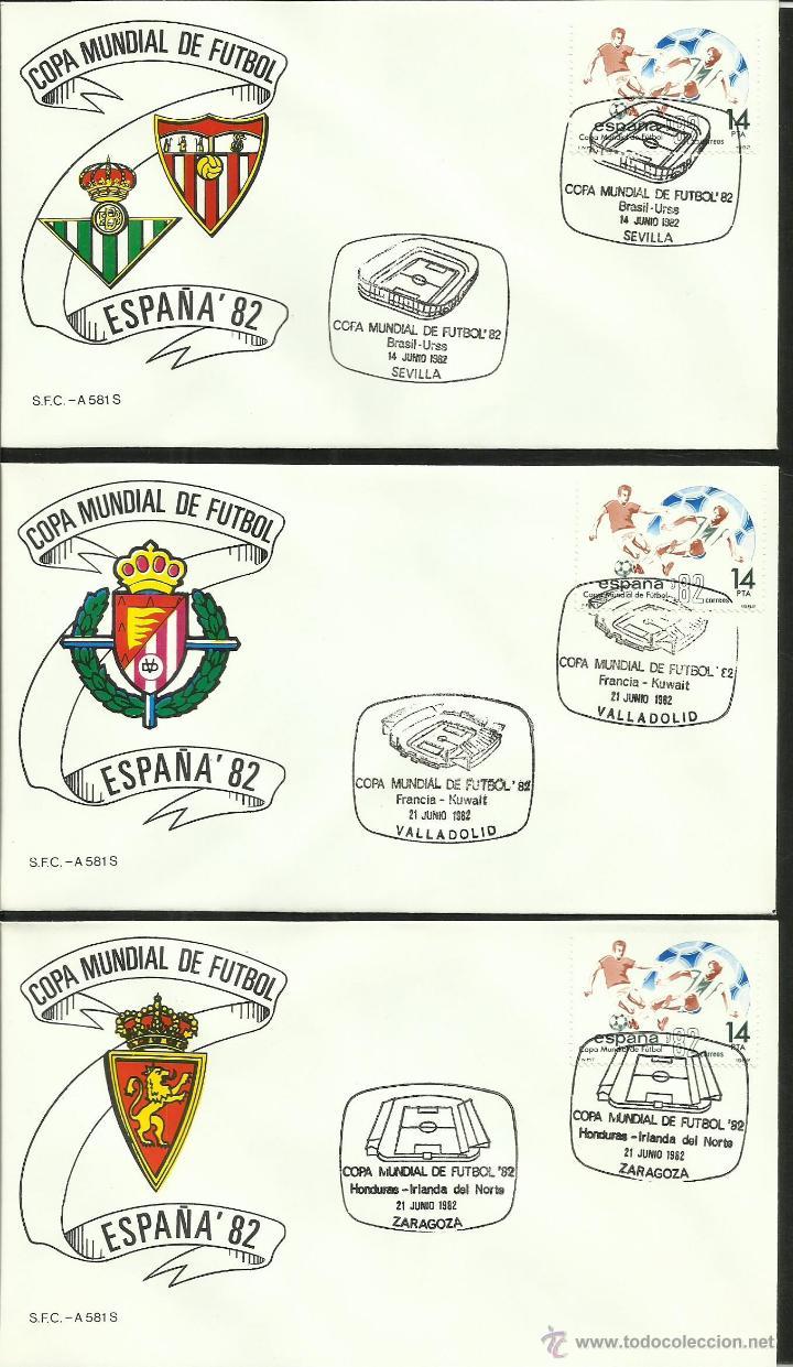 Sellos: COLECCIÓN COMPLETA 52 SOBRES PRIMER DIA CIRCULACION DEL MUNDIAL DE FUTBOL ESPAÑA 82- FDC- FIFA - Foto 9 - 47188899