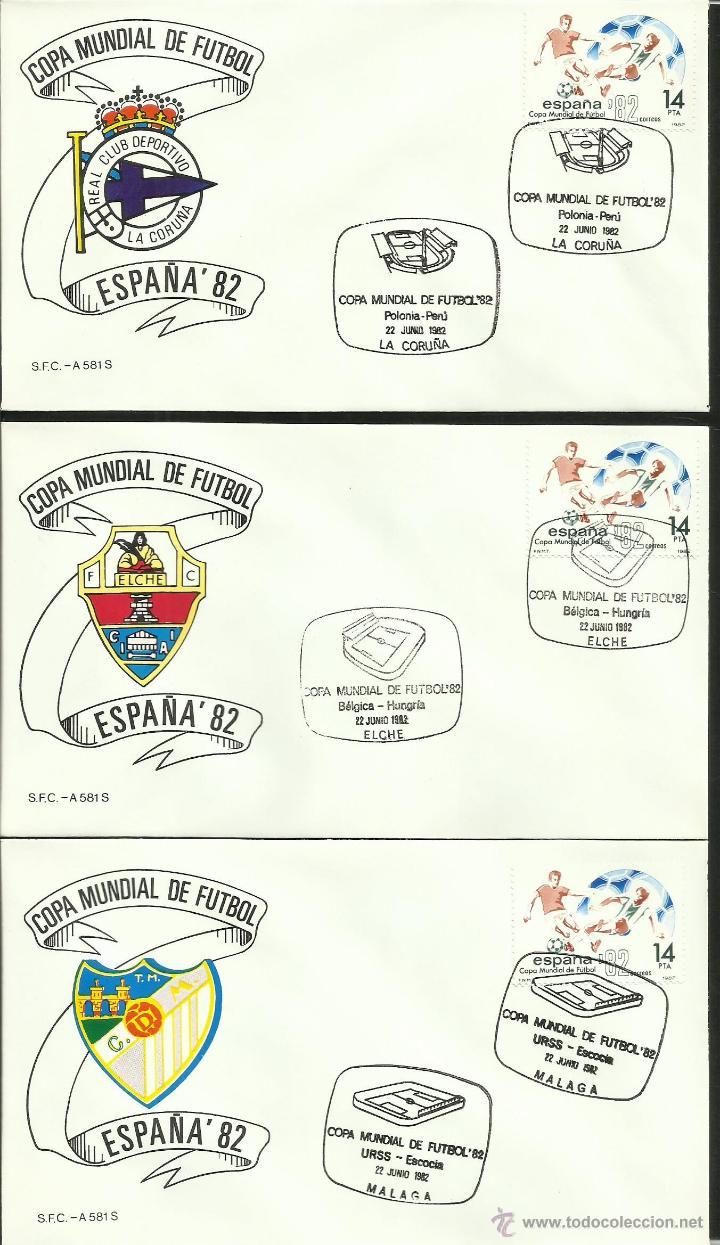 Sellos: COLECCIÓN COMPLETA 52 SOBRES PRIMER DIA CIRCULACION DEL MUNDIAL DE FUTBOL ESPAÑA 82- FDC- FIFA - Foto 10 - 47188899