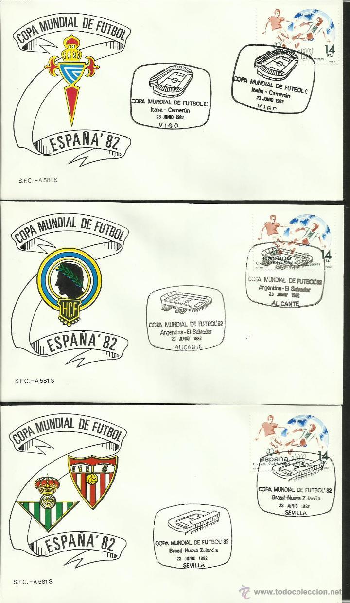Sellos: COLECCIÓN COMPLETA 52 SOBRES PRIMER DIA CIRCULACION DEL MUNDIAL DE FUTBOL ESPAÑA 82- FDC- FIFA - Foto 11 - 47188899
