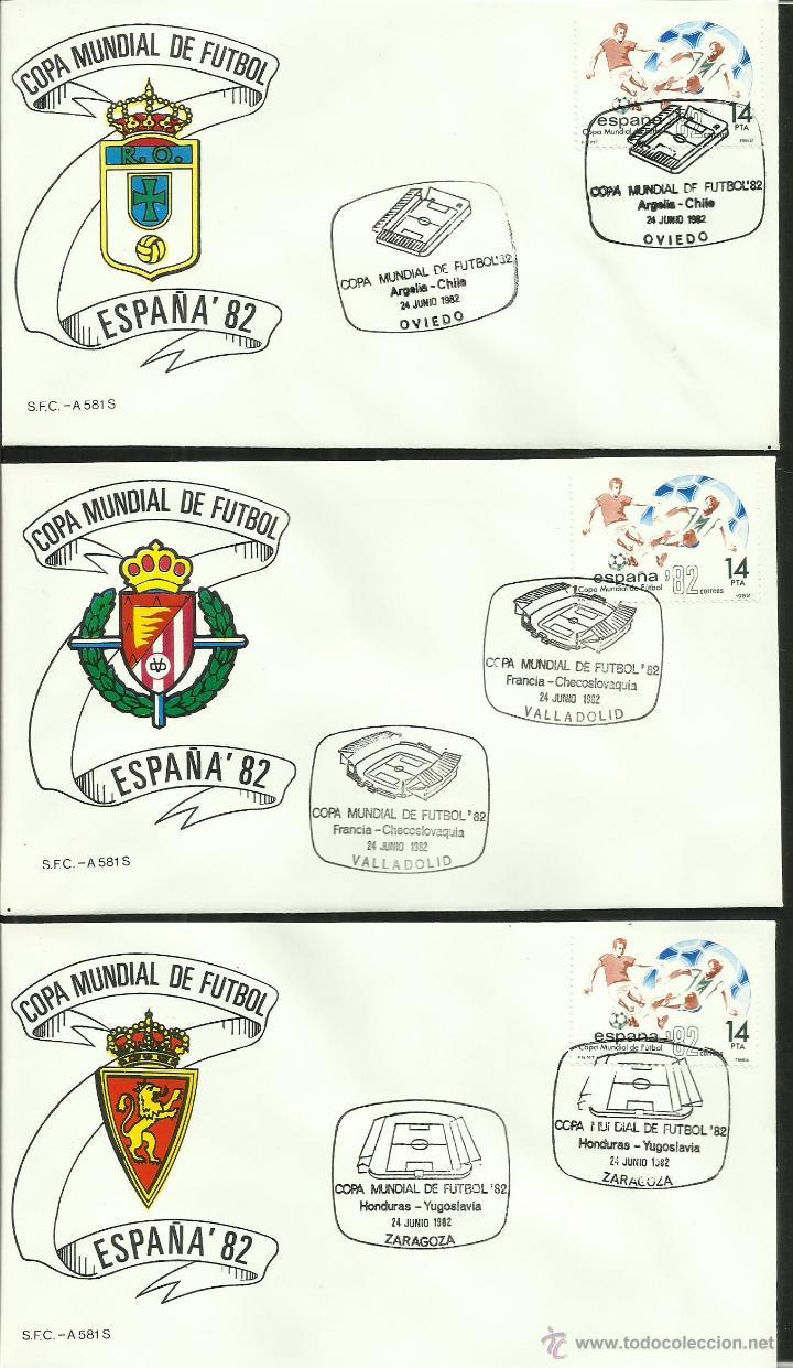 Sellos: COLECCIÓN COMPLETA 52 SOBRES PRIMER DIA CIRCULACION DEL MUNDIAL DE FUTBOL ESPAÑA 82- FDC- FIFA - Foto 12 - 47188899