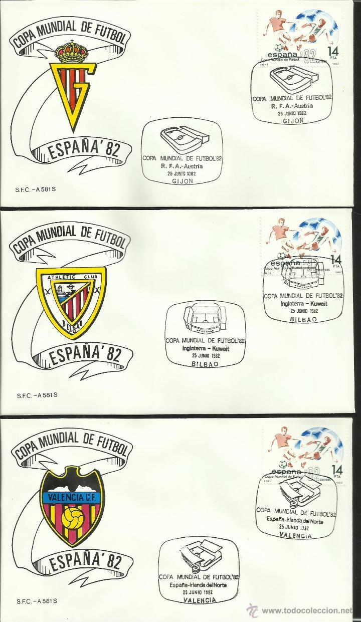 Sellos: COLECCIÓN COMPLETA 52 SOBRES PRIMER DIA CIRCULACION DEL MUNDIAL DE FUTBOL ESPAÑA 82- FDC- FIFA - Foto 13 - 47188899