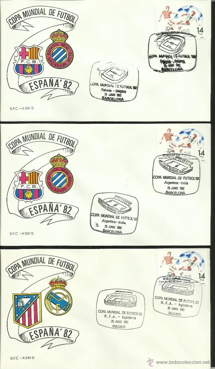 Sellos: COLECCIÓN COMPLETA 52 SOBRES PRIMER DIA CIRCULACION DEL MUNDIAL DE FUTBOL ESPAÑA 82- FDC- FIFA - Foto 14 - 47188899