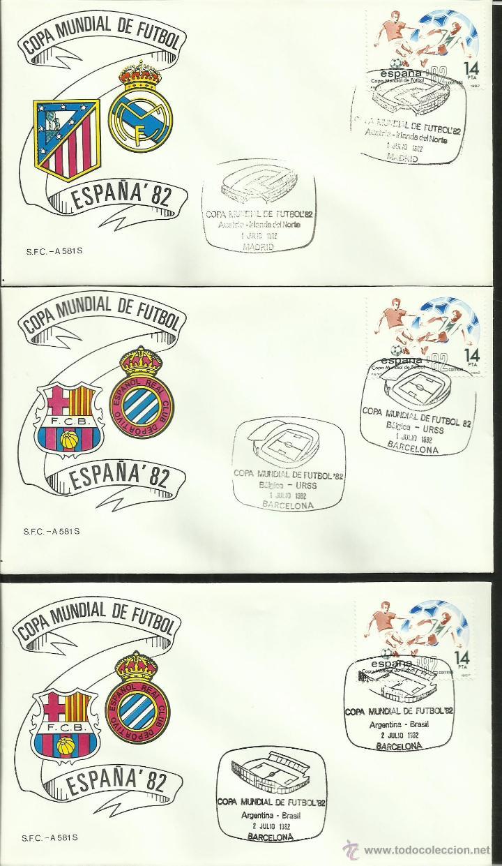 Sellos: COLECCIÓN COMPLETA 52 SOBRES PRIMER DIA CIRCULACION DEL MUNDIAL DE FUTBOL ESPAÑA 82- FDC- FIFA - Foto 15 - 47188899