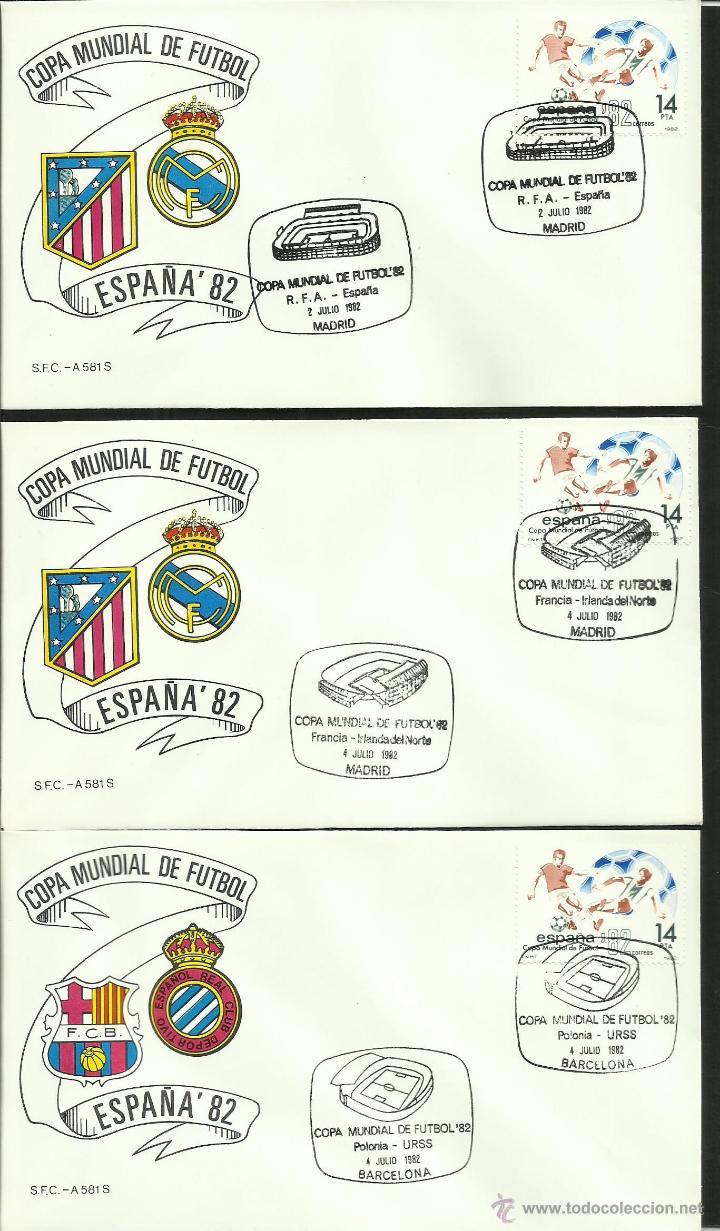 Sellos: COLECCIÓN COMPLETA 52 SOBRES PRIMER DIA CIRCULACION DEL MUNDIAL DE FUTBOL ESPAÑA 82- FDC- FIFA - Foto 16 - 47188899