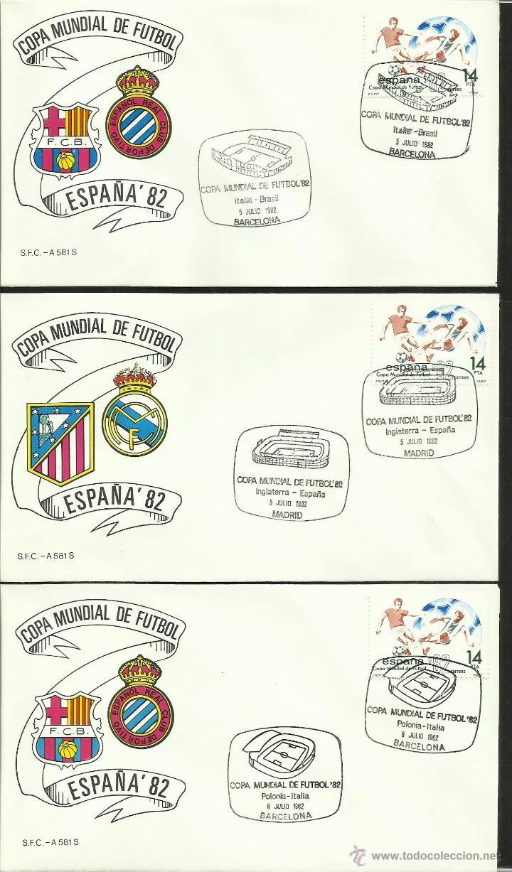 Sellos: COLECCIÓN COMPLETA 52 SOBRES PRIMER DIA CIRCULACION DEL MUNDIAL DE FUTBOL ESPAÑA 82- FDC- FIFA - Foto 17 - 47188899