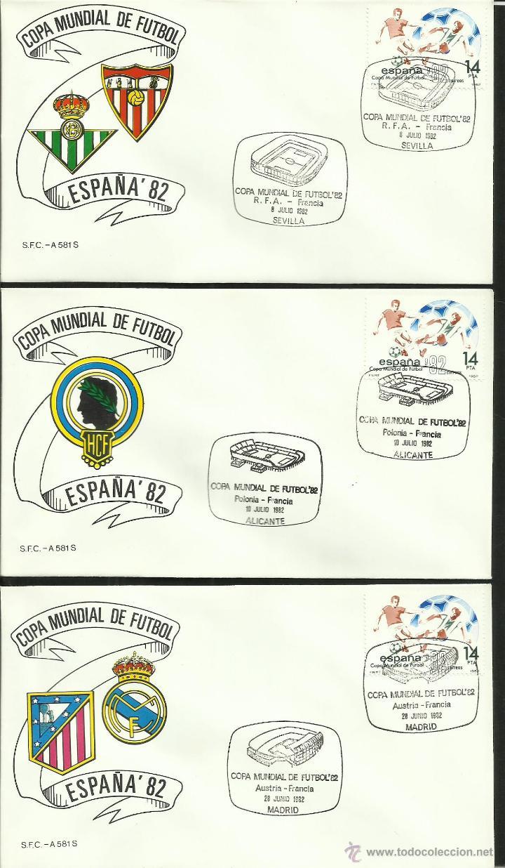 Sellos: COLECCIÓN COMPLETA 52 SOBRES PRIMER DIA CIRCULACION DEL MUNDIAL DE FUTBOL ESPAÑA 82- FDC- FIFA - Foto 18 - 47188899