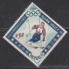 Sellos: MONACO IVERT 537, ESQUI, JUEGOS OLIMPICOS DE INVIERNO 1962, NUEVO ***. Lote 47413402