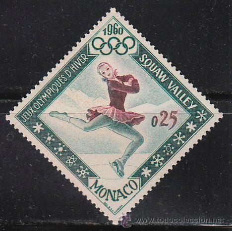 MONACO IVERT 536, PATINAJE ARTISTICO, JUEGOS OLIMPICOS DE INVIERNO 1962, NUEVO *** (Sellos - Temáticas - Deportes)