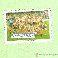 Sellos: SELLO SEMIFINALISTA DE LA COPA DEL REY 2001 ATLETICO DE MADRID. Lote 47421973
