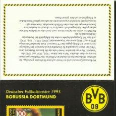 Sellos: ALEMANIA 1995 ESTUCHE PRESENTACION SELLOS FUTBOL BORUSSIA DORTMUND- UEFA- INCLUYE SELLOS. Lote 47573641