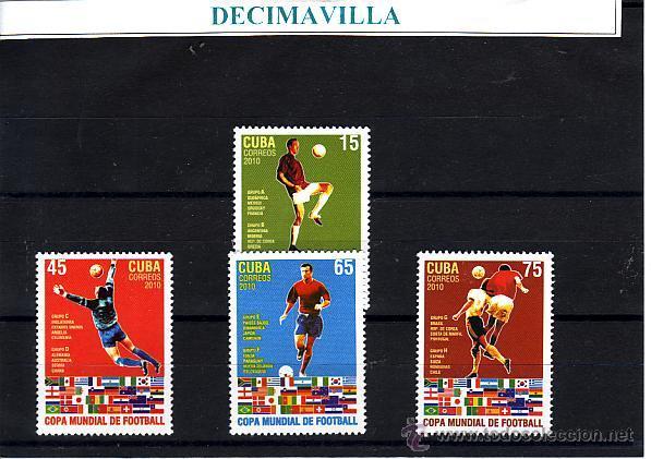 CUBA, COPA MUNDIAL DE FUTBOL, 2010, DEFU041 (Sellos - Temáticas - Deportes)