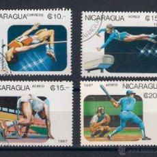 Sellos: DEPORTES VARIOS. NICARAGUA. AÑO 1987. Lote 47931548