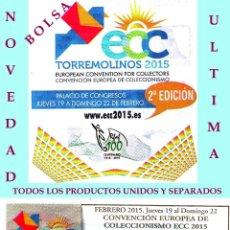 Sellos: 2ª CONVENCION EUROPEA DE COLECCIONISMO ECC 2015 EN TORREMOLINOS - MÁLAGA - PRODUCTOS. Lote 47962603