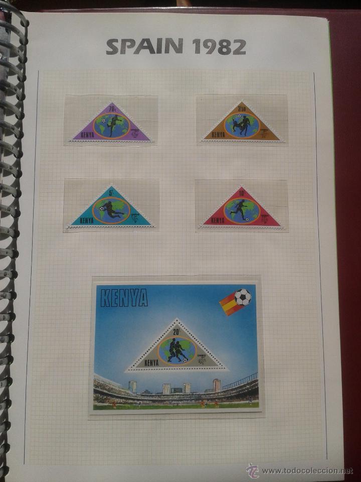 KENIA 1982 HOJA BLOQUE + SELLOS CONMEMORATIVOS DE LA COPA MUNDIAL DE FUTBOL ESPAÑA 82- FIFA (Sellos - Temáticas - Deportes)