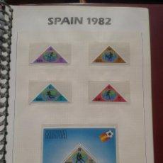 Sellos: KENIA 1982 HOJA BLOQUE + SELLOS CONMEMORATIVOS DE LA COPA MUNDIAL DE FUTBOL ESPAÑA 82- FIFA. Lote 48298347