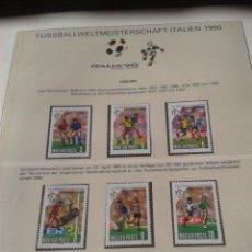 Sellos: HUNGRIA MAGYAR 1990 SELLOS CONMEMORATIVOS DE LA COPA MUNDIAL DE FUTBOL ITALIA 90- FIFA. Lote 48396496