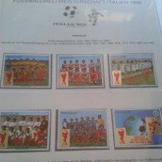 Sellos: PARAGUAY 1990 SELLOS CONMEMORATIVOS DE LA COPA MUNDIAL DE FUTBOL ITALIA 90- FIFA. Lote 48397163