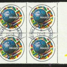 Timbres: FRANCIA 1998 SELLOS CONMEMORATIVOS DE LA COPA MUNDIAL DE FUTBOL FRANCIA 98- FIFA. Lote 48491148