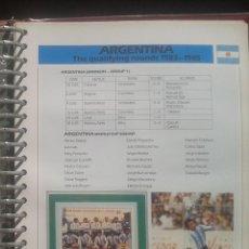 Sellos: FICHA CON SELLOS SELECCIONES DE LA COPA MUNDIAL DE FUTBOL MÉXICO 86- FIFA- ARGENTINA- MARADONA. Lote 48646946